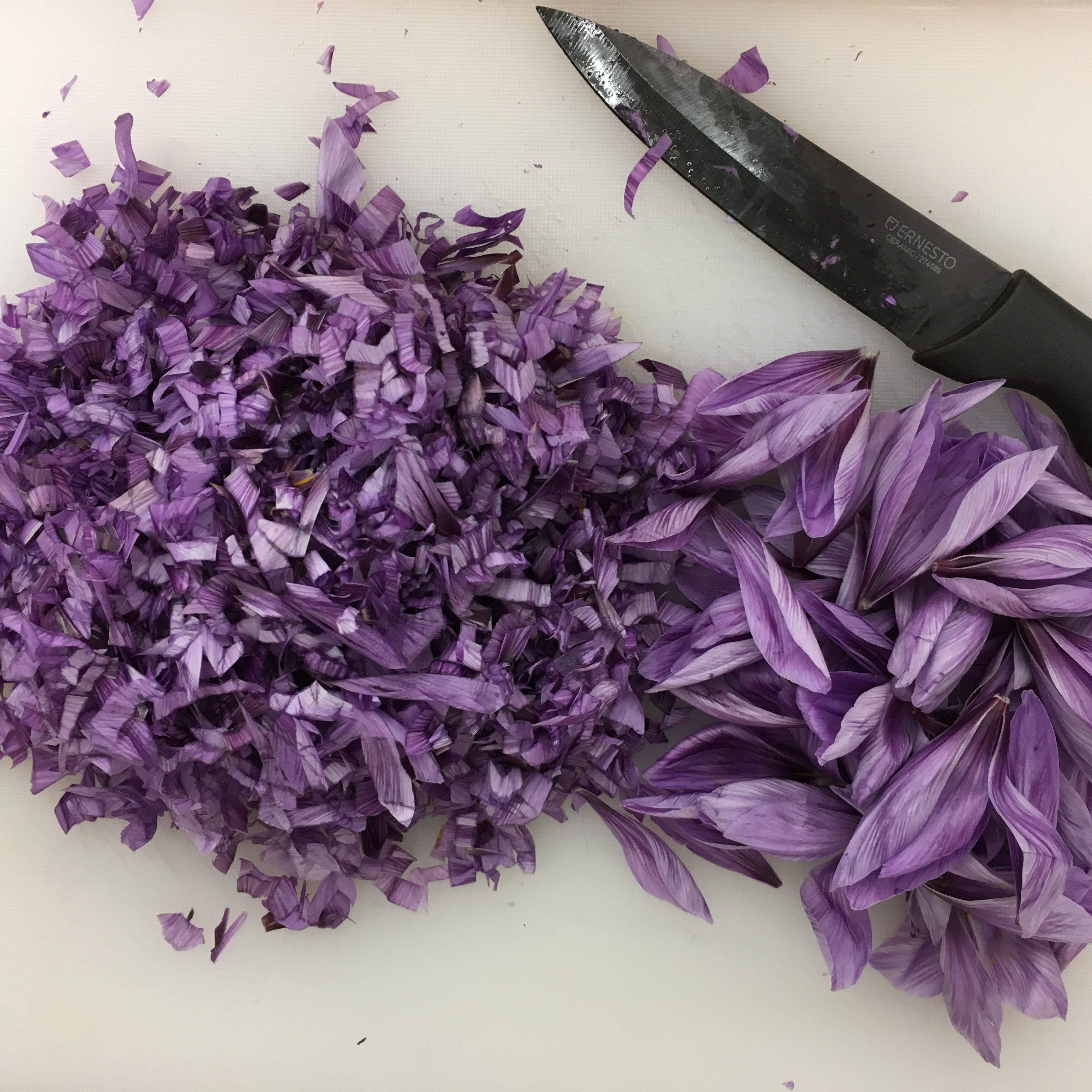 preparazione fiori di zafferano