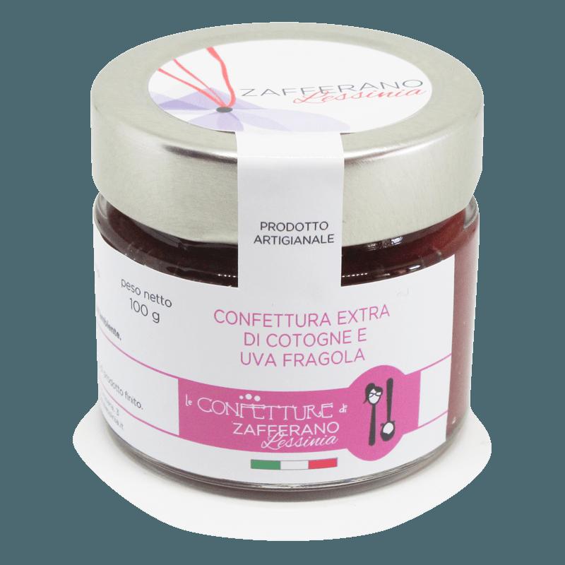 confettura extra di cotogne e uva fragola - 100g