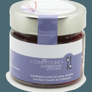confettura extra di mele e fiori di zafferano - 100g
