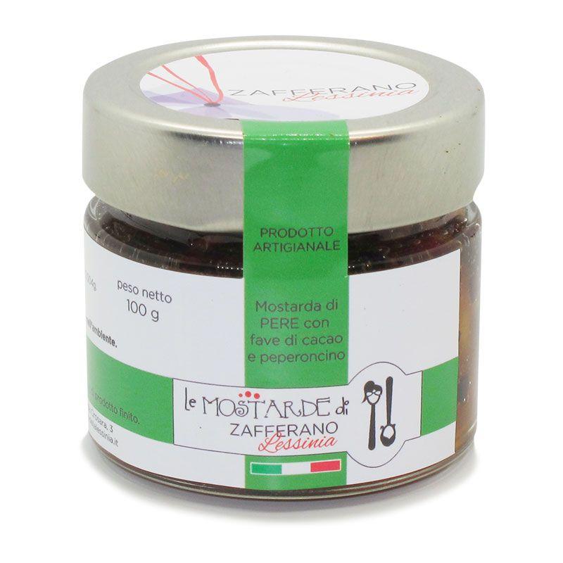 mostarda di pere con fave di cacao - 100g
