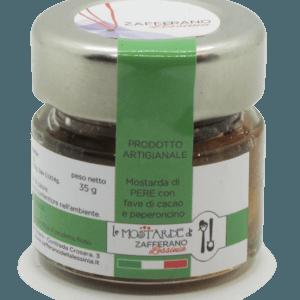 mostarda di pere con fave di cacao - 35g